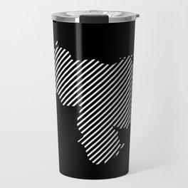 Venezuelan striped map - white Travel Mug