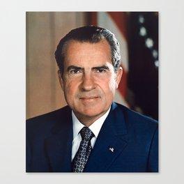 President Richard Nixon Portrait Canvas Print