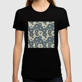 Blue Floral Japanese Pattern 2 T-shirt