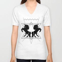 trash unicorns Unisex V-Neck