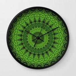 Regardlossly Plaid Mandala 1 Wall Clock