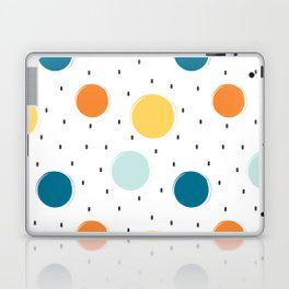 cute colorful pattern with grunge circle shapes Laptop & iPad Skin