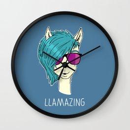 LLAMAZING llama Wall Clock