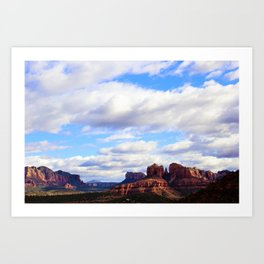 Cathedral Rock BIG SKY in Arizona by Reay of Light Art Print