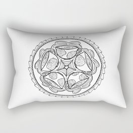 Color-in Coffee Mandala Coloring Page Rectangular Pillow