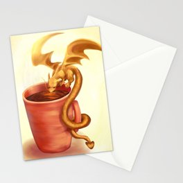 A drink for a dragon Stationery Cards