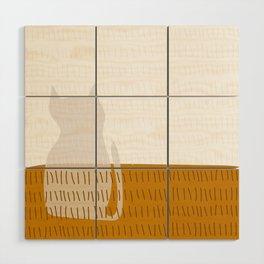 Coit Cat Pattern 3 Wood Wall Art