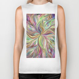 Color abstract Art Biker Tank