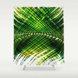Palm Frond Strong [green] Shower Curtain