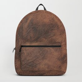 Old Tan Leather Print Texture | Cowhide Backpack