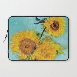 Vincent van Gogh - Three Sunflowers Laptop Sleeve