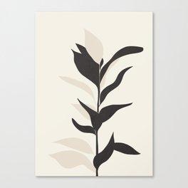 Abstract Minimal Plant Canvas Print