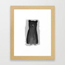 B for Bear Framed Art Print