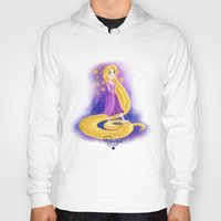 rapunzel Hoodies featuring Rapunzel by Khatii