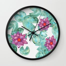 Lily Pads Wall Clock