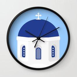 Santorini #02 Wall Clock