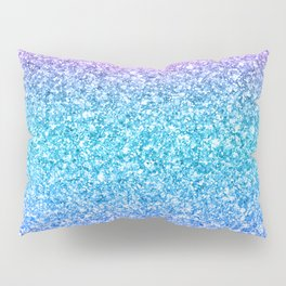 Modern colorful glitter texture print Pillow Sham
