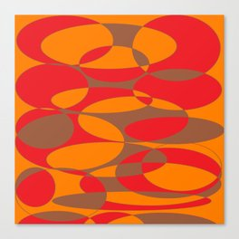 Red, orange and brown elliptical design Canvas Print