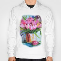 tulips Hoodies featuring Tulips by OLHADARCHUK