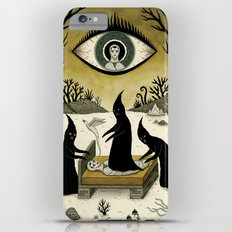 Three Shadow People Terrify a Victim During an Episode of Sleep Paralysis iPhone 6 Plus Slim Case