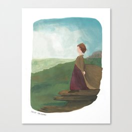 On Top of the World | Elizabeth Bennet character illustration Canvas Print
