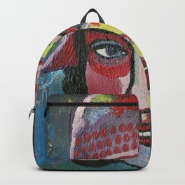 Woman with hat Backpack