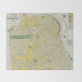 Vintage Map of San Francisco CA (1898) Throw Blanket