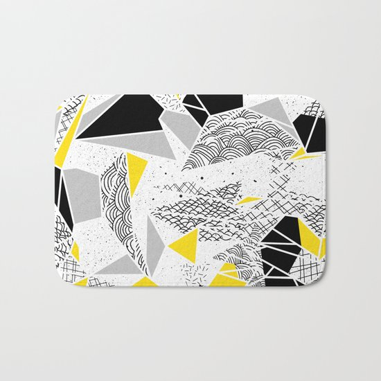 Geometric abstract textures Bath Mat