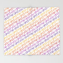 You and Me Rainbow Throw Blanket
