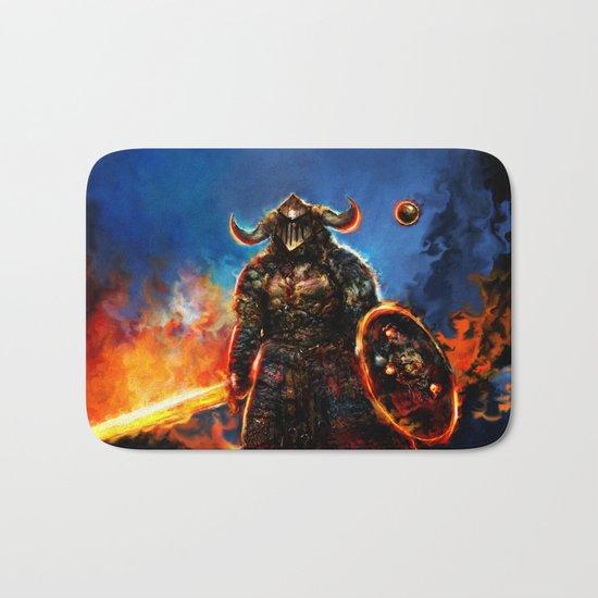viking and his droid Bath Mat