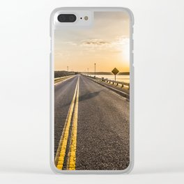 Sunset Road 2 Clear iPhone Case
