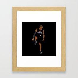 NBA Players | Allen Iverson over Lue Framed Art Print