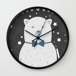 bear boy Wall Clock
