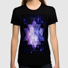 galaxy sacred Geometry T-shirt