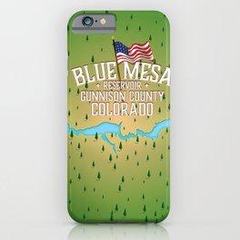 Blue Mesa Reservoir map travel poster. iPhone Case