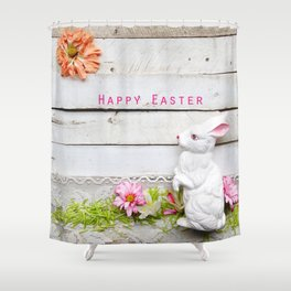 Happy Easter Bunny Shower Curtain