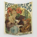 Alfons Mucha art nouveau beer ad by aapshop