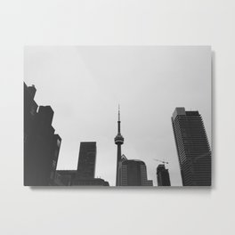 toronto in black & white Metal Print