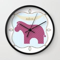 Fun at the Zoo: Zebra Wall Clock