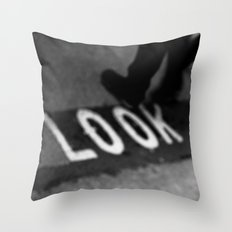 Bus lane London Throw Pillow