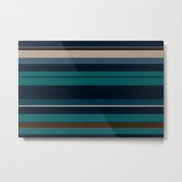 minimalistic horizontal stripes pattern hbi Metal Print