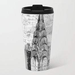 Snow - New York City - Chrysler Building Travel Mug