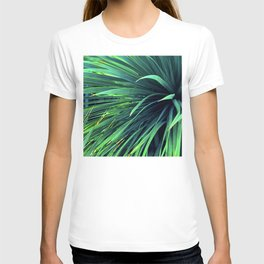 Luxurious Lush, Long Leaves In Delicious Blue-Green T-shirt