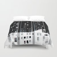 street Duvet Covers featuring Street by Lynsey Ledray