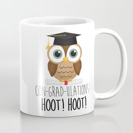 Con-grad-ulations! Hoot! Hoot! Coffee Mug