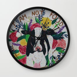 I am not food Wall Clock