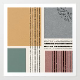 Modern Geo Design  Art Print
