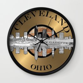 A Souvenir From Cleveland Ohio Wall Clock
