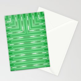 Art Deco Lime Green Spear Pattern Stationery Cards