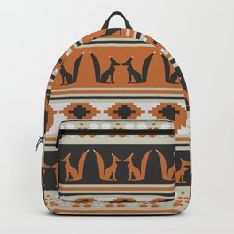 Foxes and ethnic shapes Backpack